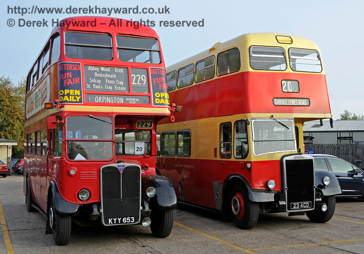 Vintage buses providing the service from Sheffield Park to Brighton.  30.10.2016 16655