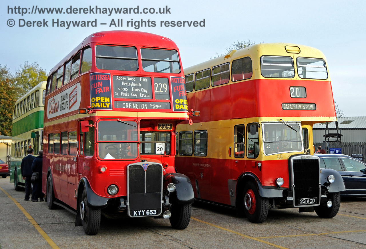 Vintage buses providing the service between Brighton and Sheffield Park. 30.10.2016 16647