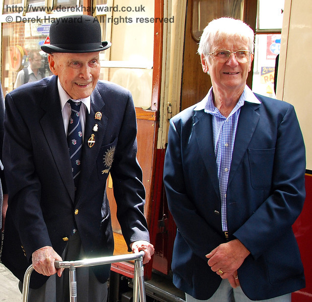 BRPS President, Bernard Holden MBE (101 years young), poses with the late Martin Eastland. Sheffield Park 17.06.2009