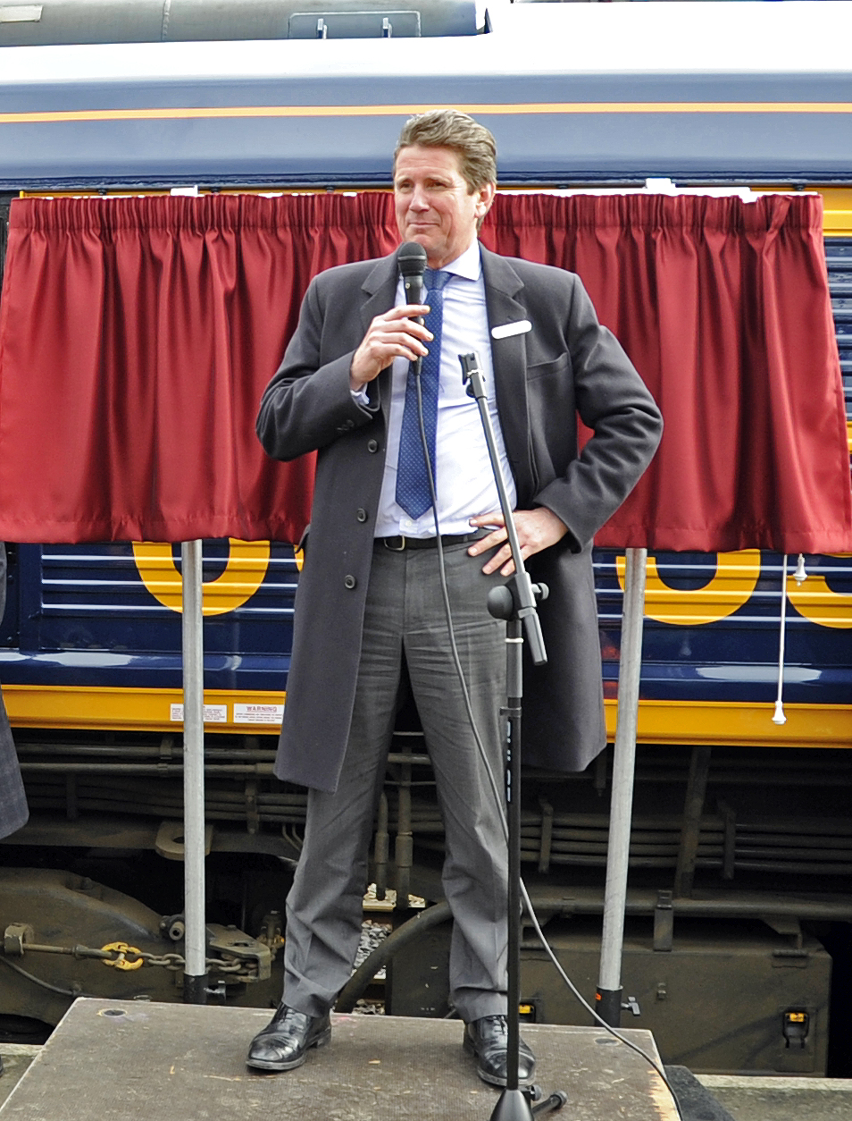 John Smith, Managing Director GBRf, addresses the audience.  Horsted Keynes 28.03.2013  6363
