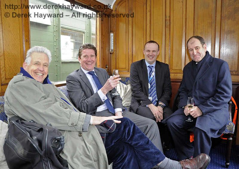 Distinguished guests in the Director's Saloon.  Horsted Keynes 28.03.2013  6413