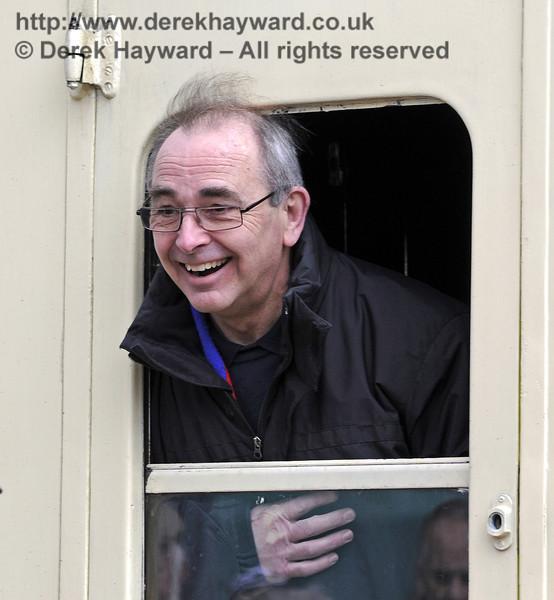 Nigel Longdon looks unusually happy.  Horsted Keynes 28.03.2013  8573