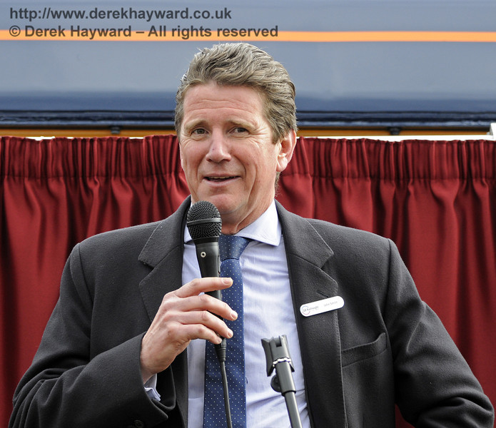 John Smith, Managing Director GBRf, addresses the audience.  Horsted Keynes 28.03.2013  8586