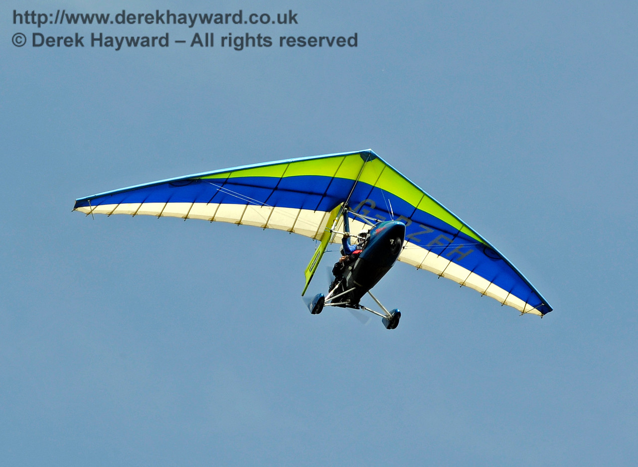 Some people will do anything to get in on the act...!  Have we banned microlights yet?  Horsted Keynes  01.08.2015  11714
