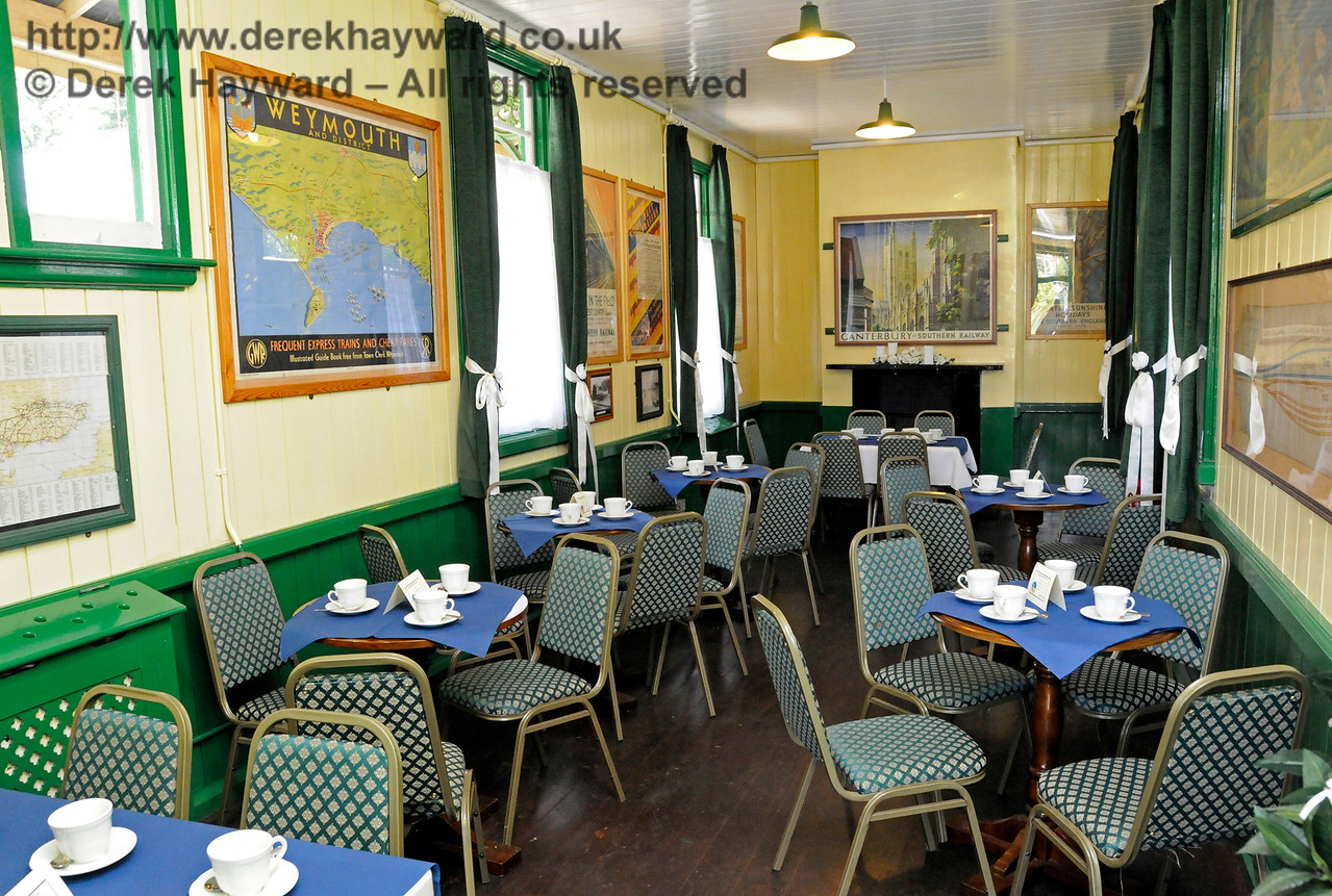 The Wedding Room at  Horsted Keynes prepared for afternoon tea.  01.08.2015  13388