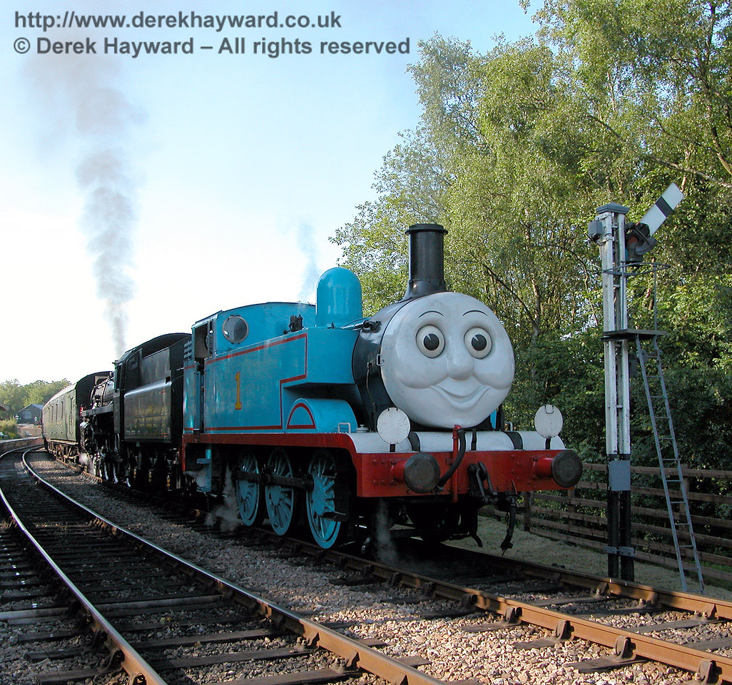 It is late and Thomas heads for home.  Kingscote 24.06.2006