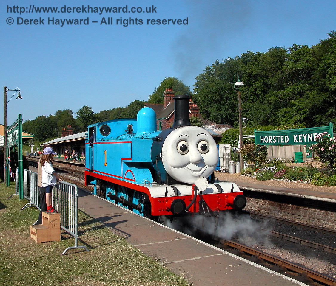 If you have come to see Thomas it is very important to get a good view. Horsted Keynes 24.06.2006.