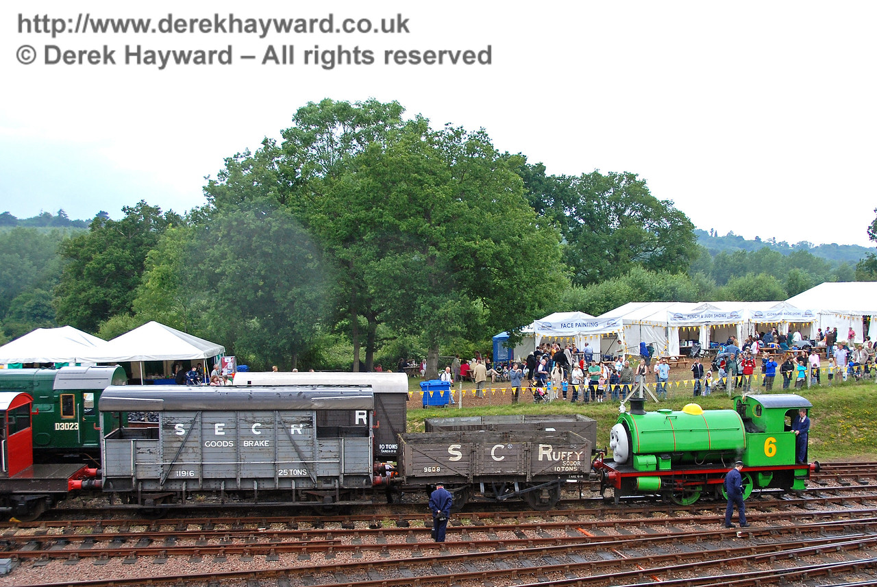 After the shunter asked him nicely, Percy shunts Scruffy and a Brake Van at Horsted Keynes 23.06.2007