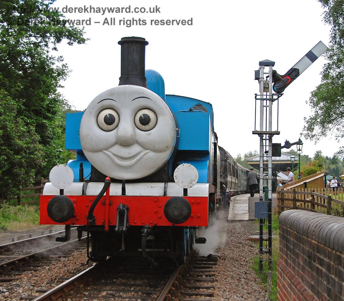 Thomas smiles for the camera as he waits to leave Kingscote 23.06.2007