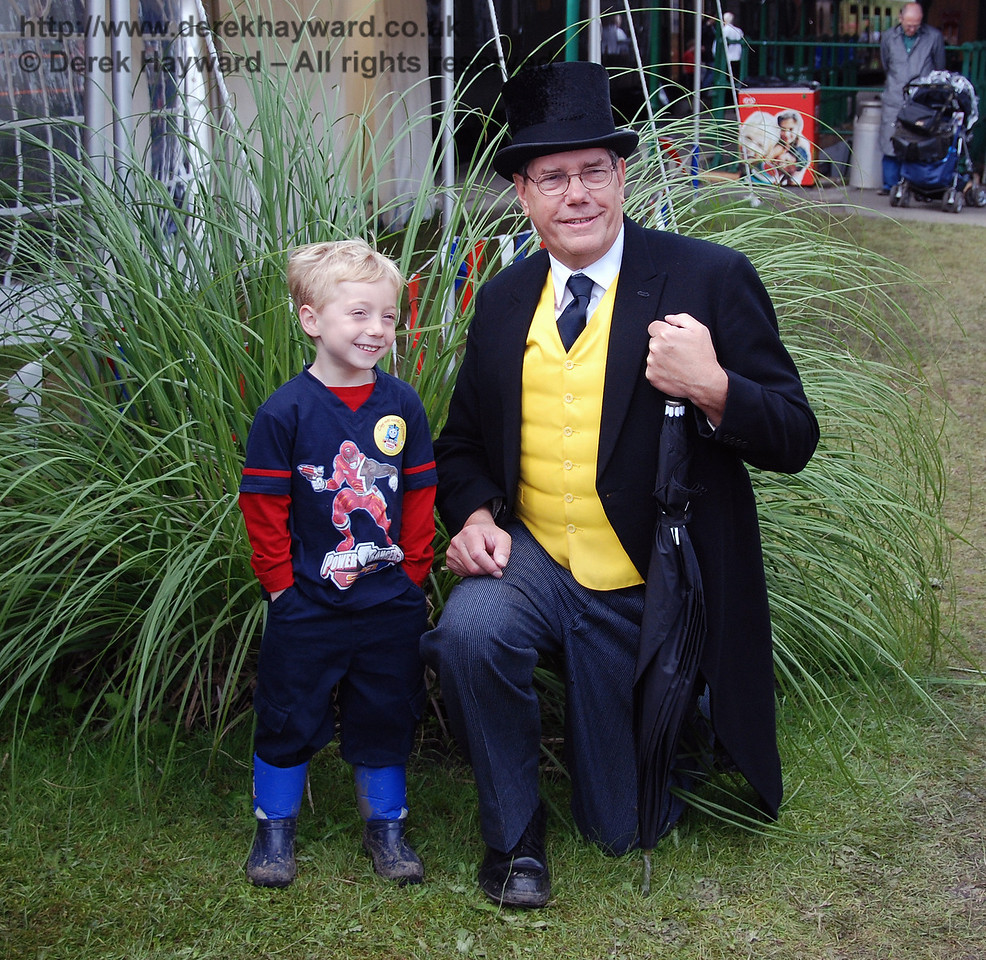 Sir Topham Hatt has his photograph taken with one of his fans. Horsted Keynes 01.07.2007