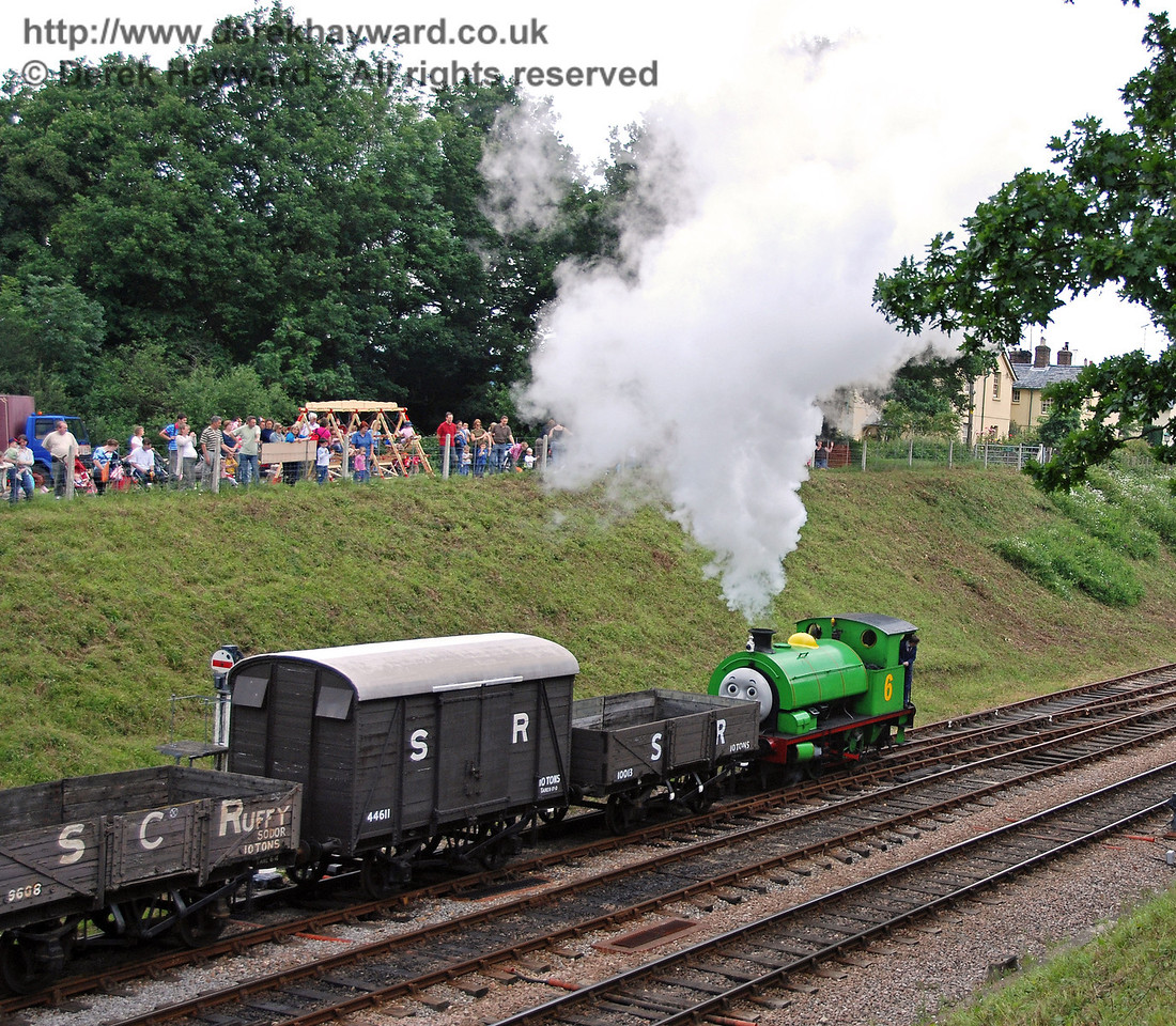 Percy hauls the Troublesome Trucks out of Horsted Keynes 23.06.2007