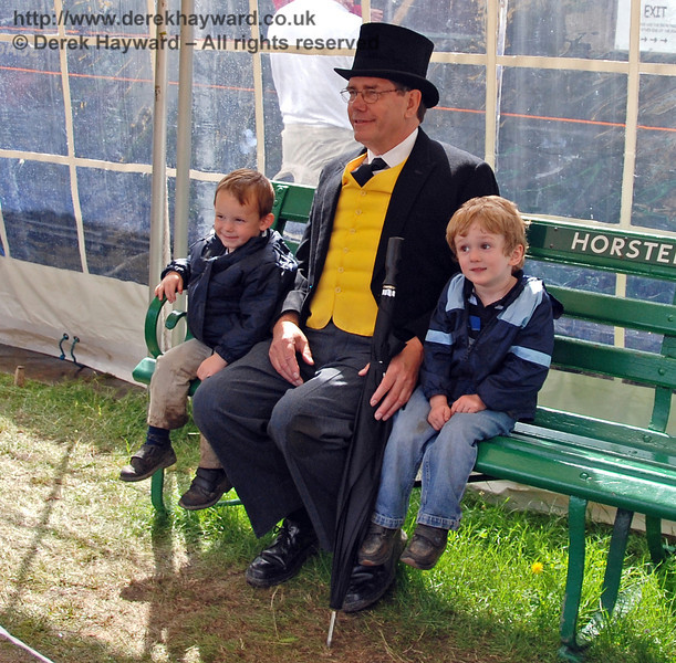Sir Topham Hatt had his picture taken with lots of important people. Horsted Keynes 01.07.2007