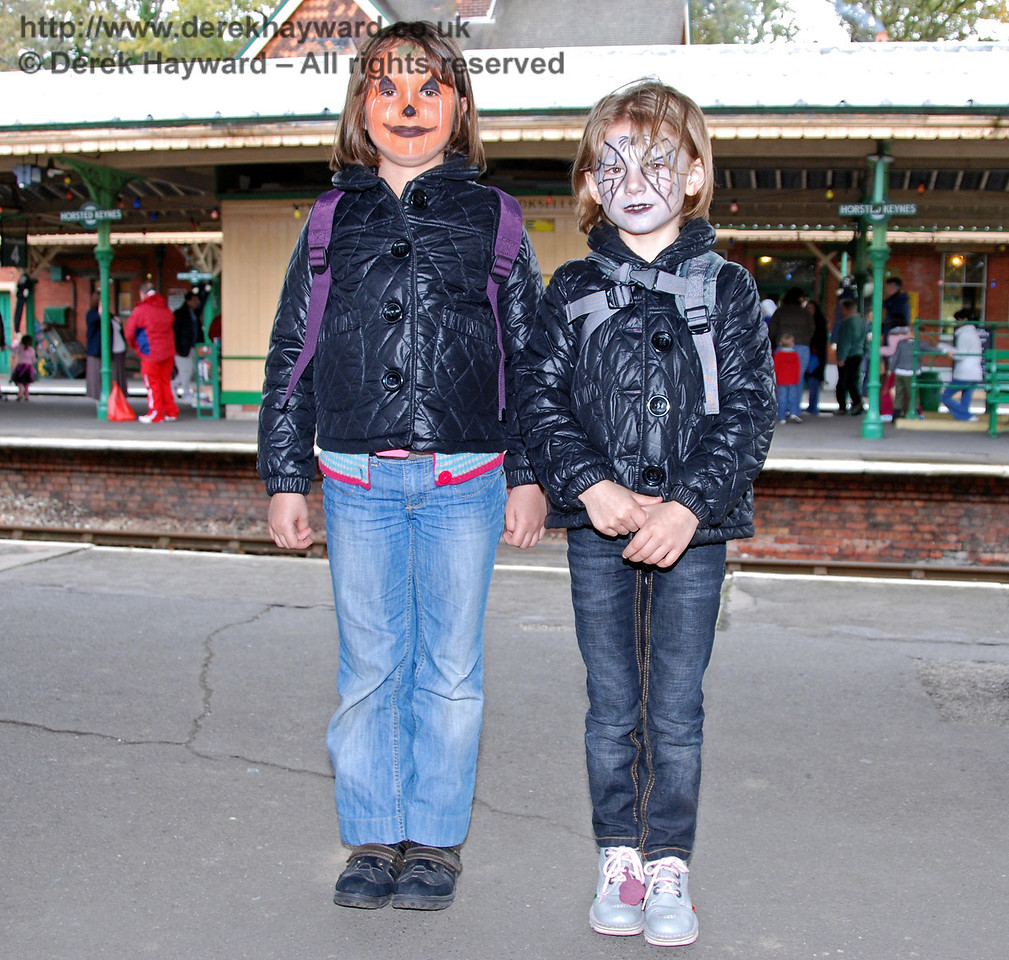 Two satisfied customers from the face painting. Horsted Keynes 25.10.2008