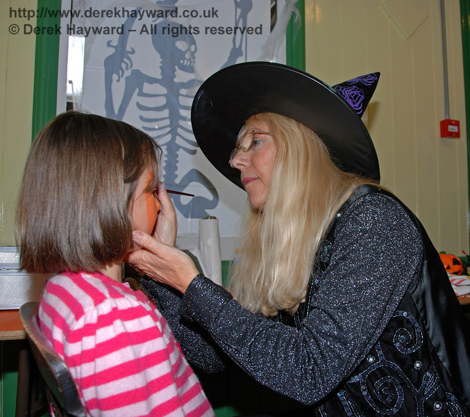 The face painting in full swing. Horsted Keynes 25.10.2008
