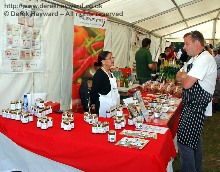 The Spice Shelf with their chutneys and pickles. Horsted Keynes 23.08.2009