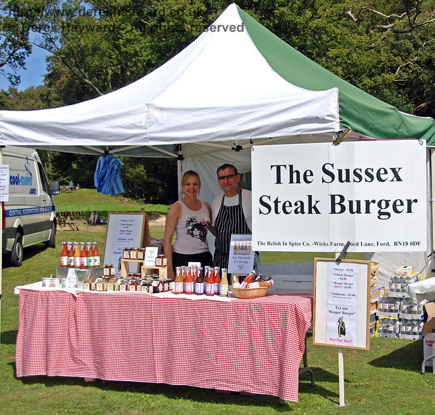 The sign gives a clue! The Relish In Spice Co from Wicks Farm. Horsted Keynes 23.08.2009