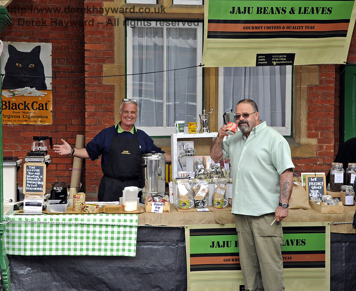 Jaju Beans & Leaves.  Flavours from Sussex Food Fair, Horsted Keynes.  23.06.2012   5355