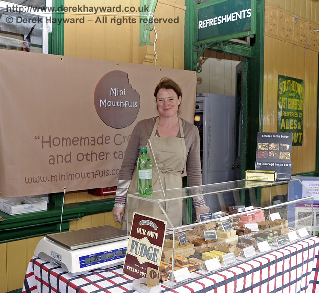 Mini Mouthfuls Fudge.  Flavours from Sussex Food Fair, Horsted Keynes.  23.06.2012  5360