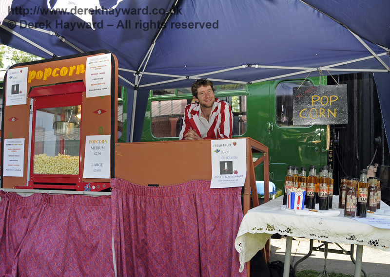 The Pop Corn stall.  Sussex Food Festival, Horsted Keynes, 06.07.2013  9403