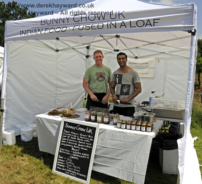 Bunny Chow UK Indian Food.  Sussex Food Festival, Horsted Keynes, 06.07.2013  9477
