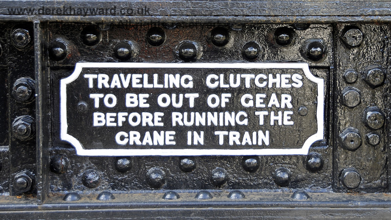 Refurbished plate on the Ransomes and Rapier Ltd Steam Crane,   Horsted Keynes  23.08.2014  11584