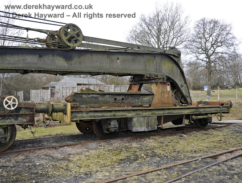 The Ransomes and Rapier Ltd Steam Crane, photographed on the day it was moved to Horsted Keynes for refurbishment.  21.02.2012  3702