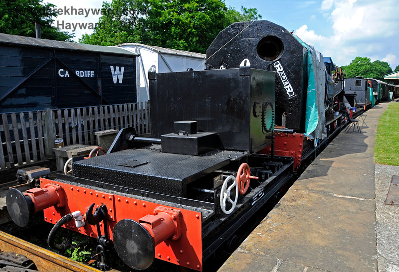 The Ransomes and Rapier Ltd Steam Crane at Horsted Keynes with cosmetic restoration in progress. 28.05.2018 18513