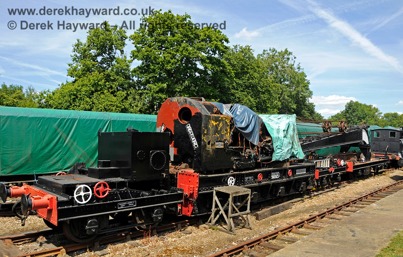 The Ransomes and Rapier Ltd Steam Crane at Horsted Keynes with cosmetic restoration in progress. 18.07.2015 13216