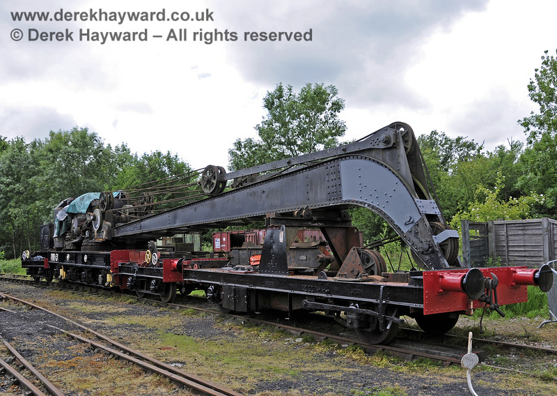 The Ransomes and Rapier Ltd Steam Crane, with some refurbishment and repainting having taken place.   Horsted Keynes 22.06.2013  8977