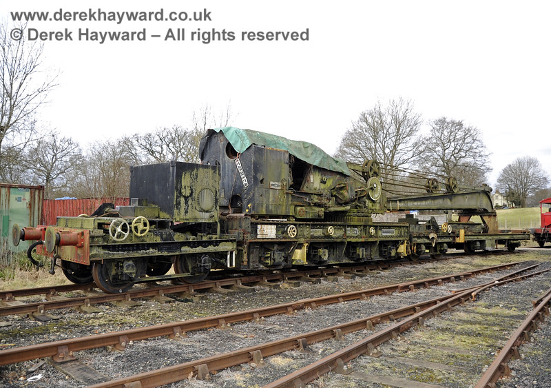 The Ransomes and Rapier Ltd Steam Crane, photographed on the day it was moved to Horsted Keynes for refurbishment.  21.02.2012  3701