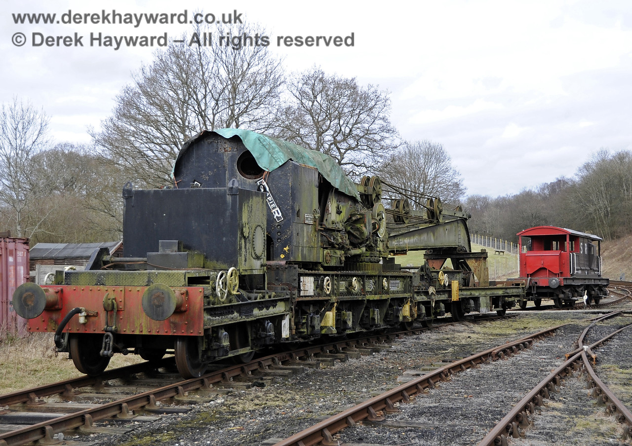 The Ransomes and Rapier Ltd Steam Crane, photographed on the day it was moved to Horsted Keynes for refurbishment.  21.02.2012   3710