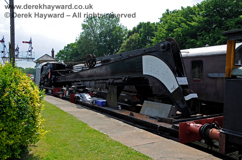 The Ransomes and Rapier Ltd Steam Crane at Horsted Keynes with cosmetic restoration in progress. 28.05.2018 18509