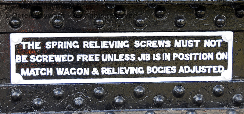 Refurbished plate on the Ransomes and Rapier Ltd Steam Crane,   Horsted Keynes  23.08.2014  11585