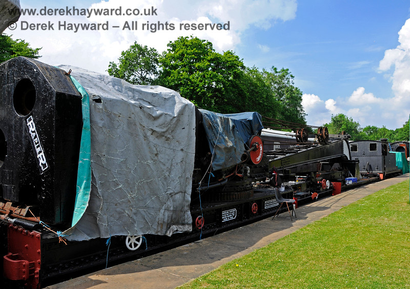 The Ransomes and Rapier Ltd Steam Crane at Horsted Keynes with cosmetic restoration in progress. 28.05.2018 18512