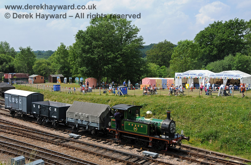 """178 (carrying a """"Nettle"""" nameplate) shunting at a Family Fun Day at Horsted Keynes. 26.06.2010 2880"""