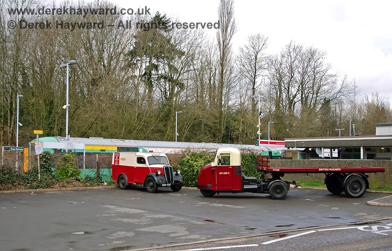 A British Railways van and mechanical horse at East Grinstead. 30.03.2008 0031