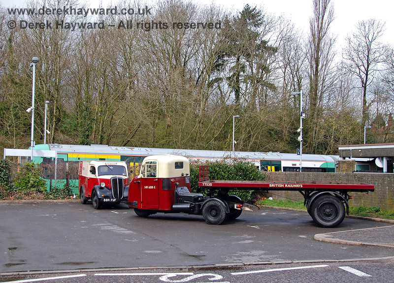 A British Railways van and mechanical horse at East Grinstead. 30.03.2008 0032