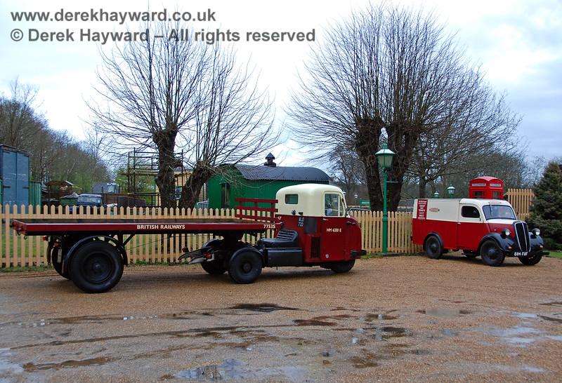 A British Railways van and mechanical horse at Kingscote. 30.03.2008 0003