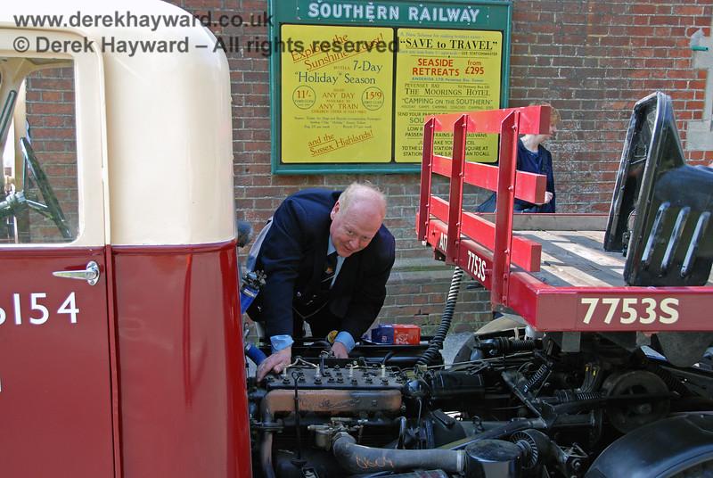 Mechanical horse NDN759 under repair at Horsted Keynes. 14.04.2007