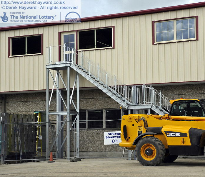 A new staircase has been installed on the western side.  16.06.2012  5026