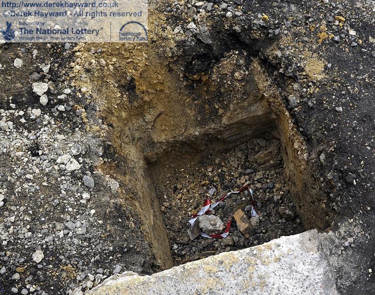 Ground works outside the Workshop entrance.  21.01.2012  3420