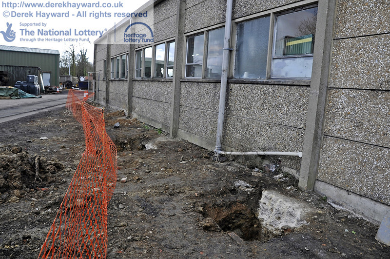 Ground works on the eastern side of the Workshops.  21.01.2012  3439