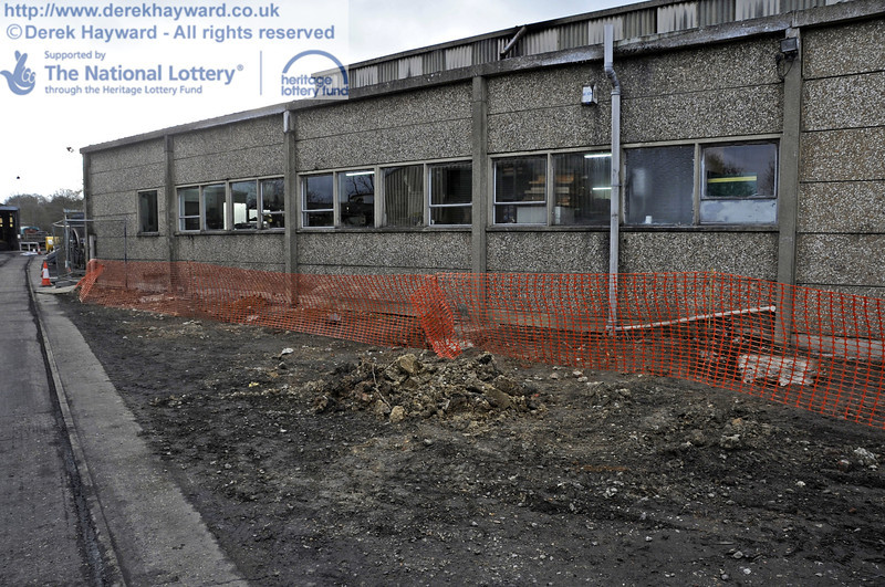 Ground works on the eastern side of the Workshops.  21.01.2012  3432