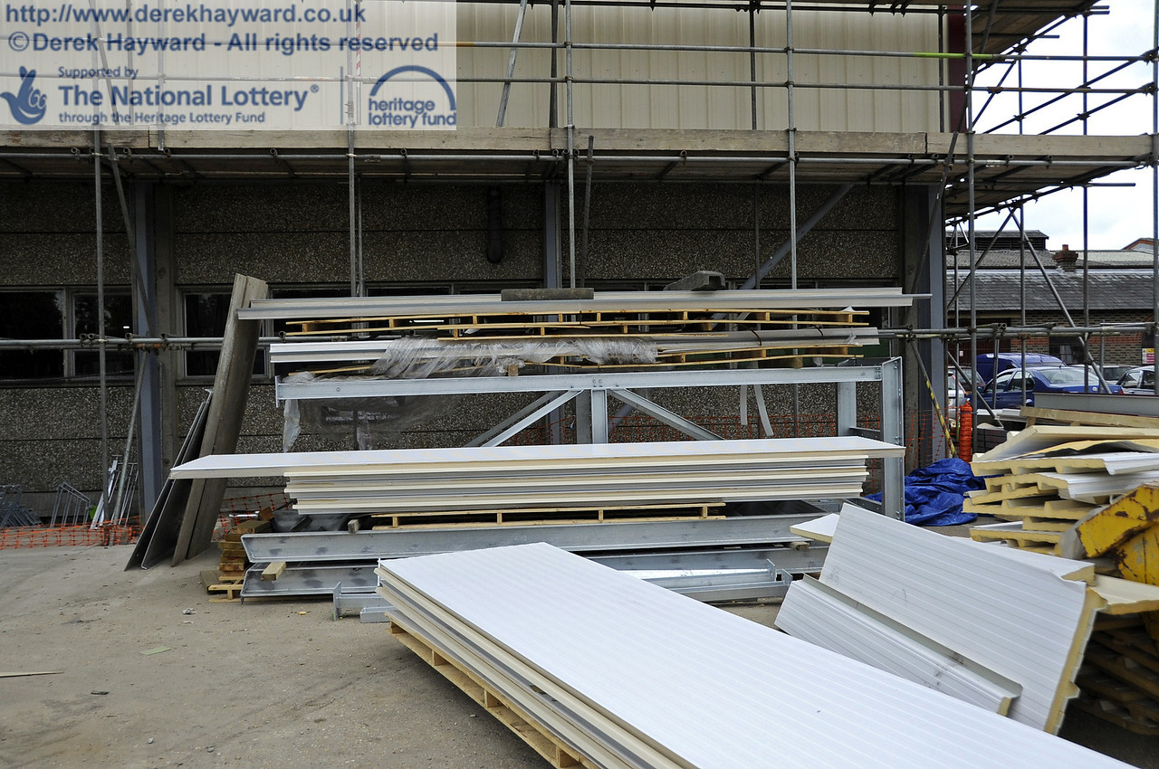 Cladding and other materials ready for installation.  30.05.2012  4938
