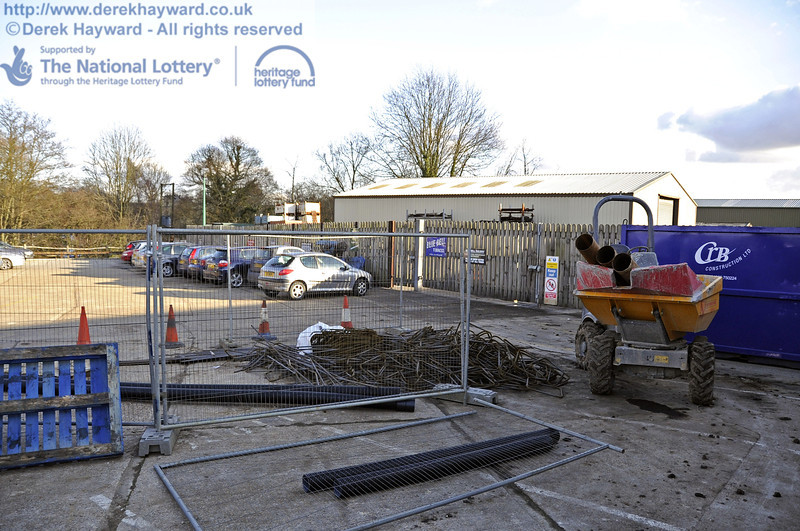 Part of the work site outside the Workshops. 19.02.2012  3592