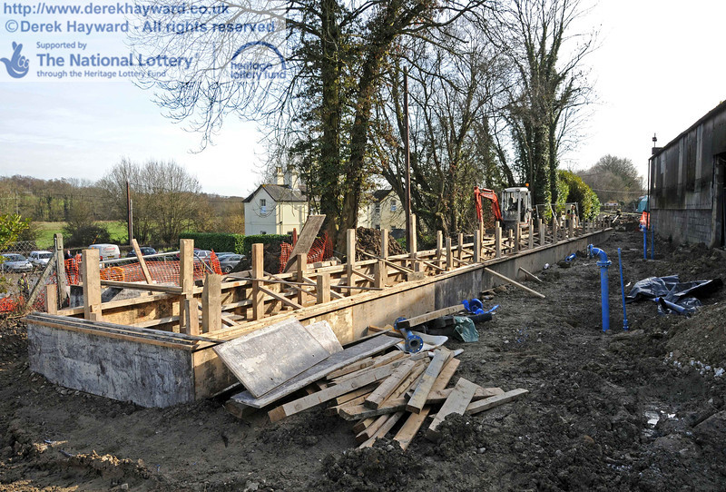 Looking south at the locomotive wash out pit on 24.02.2011, with shuttering in place ready to pour concrete.  6019