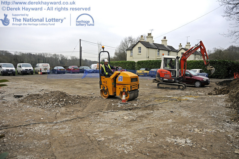 Work to reinstate the surface of the staff car park is continuing.  17.03.2011  6513