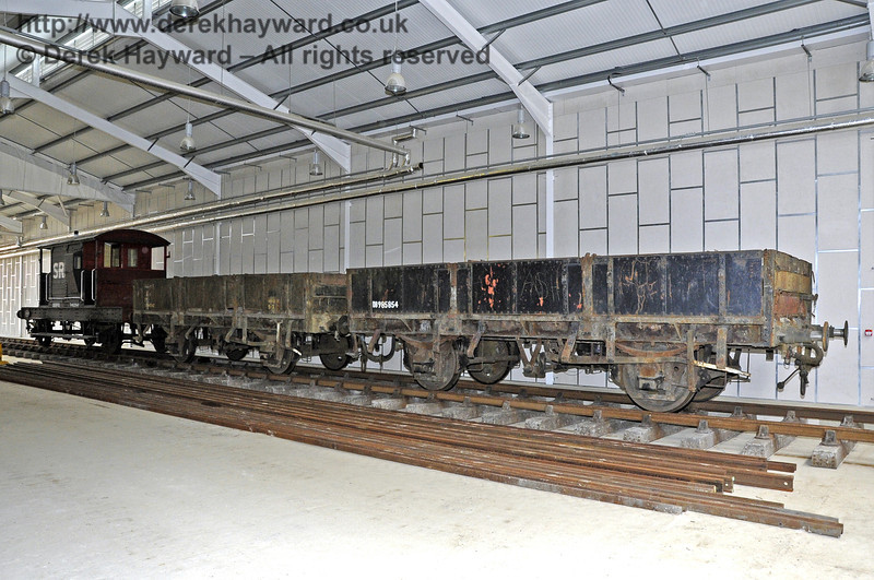 Inside the Carriage Shed with stock standing on what will be A road.  This view looks south.  03.07.2011  2086
