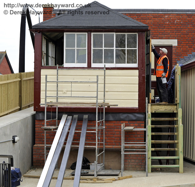 The Withyham signal box is being painted and general refurbishment carried out.  14.04.2011  0770