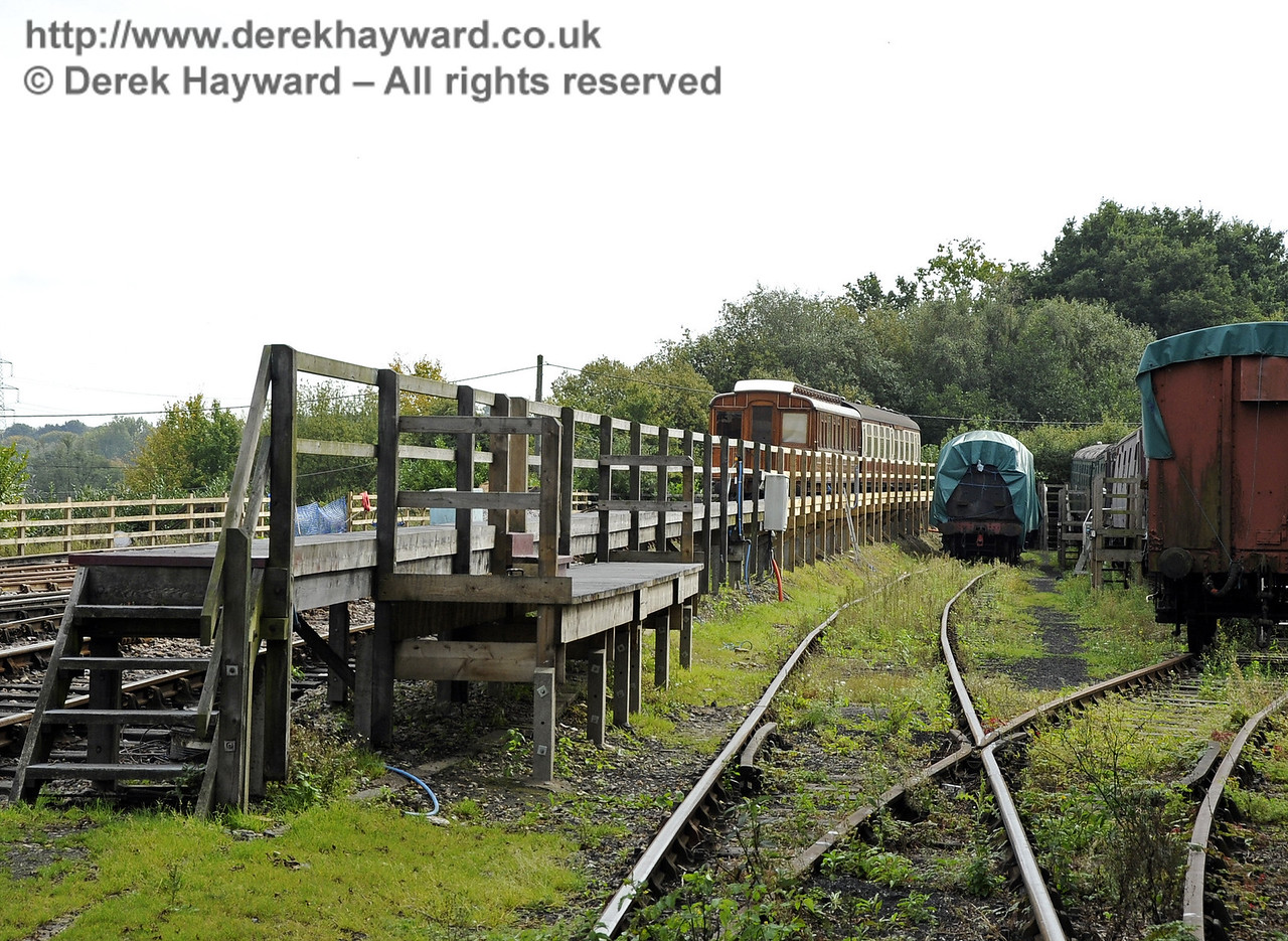 Looking south down what will be the Carriage Shed headshunt.   24.09.2011  2900